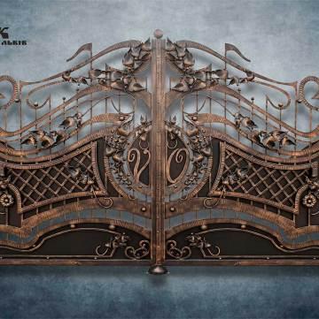 Ковані ворота фото - 12