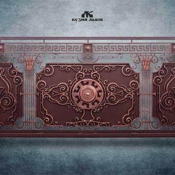 Ковані ворота фото - 14