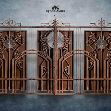 Ковані ворота фото - 3