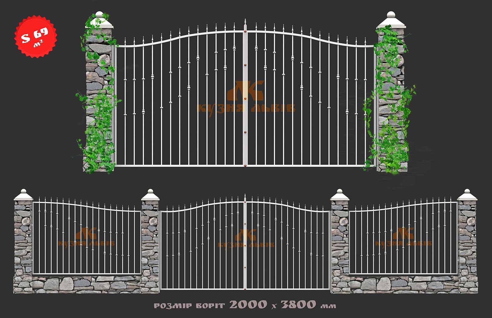 Готові Ковані ворота фото 3