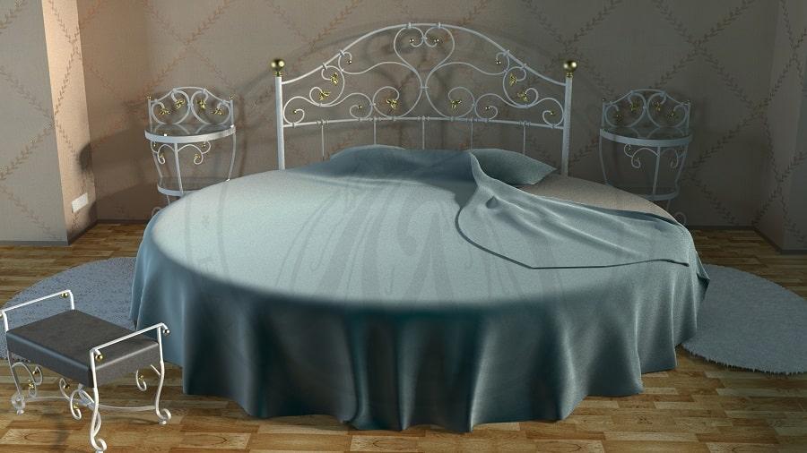 коване ліжко круглої форми