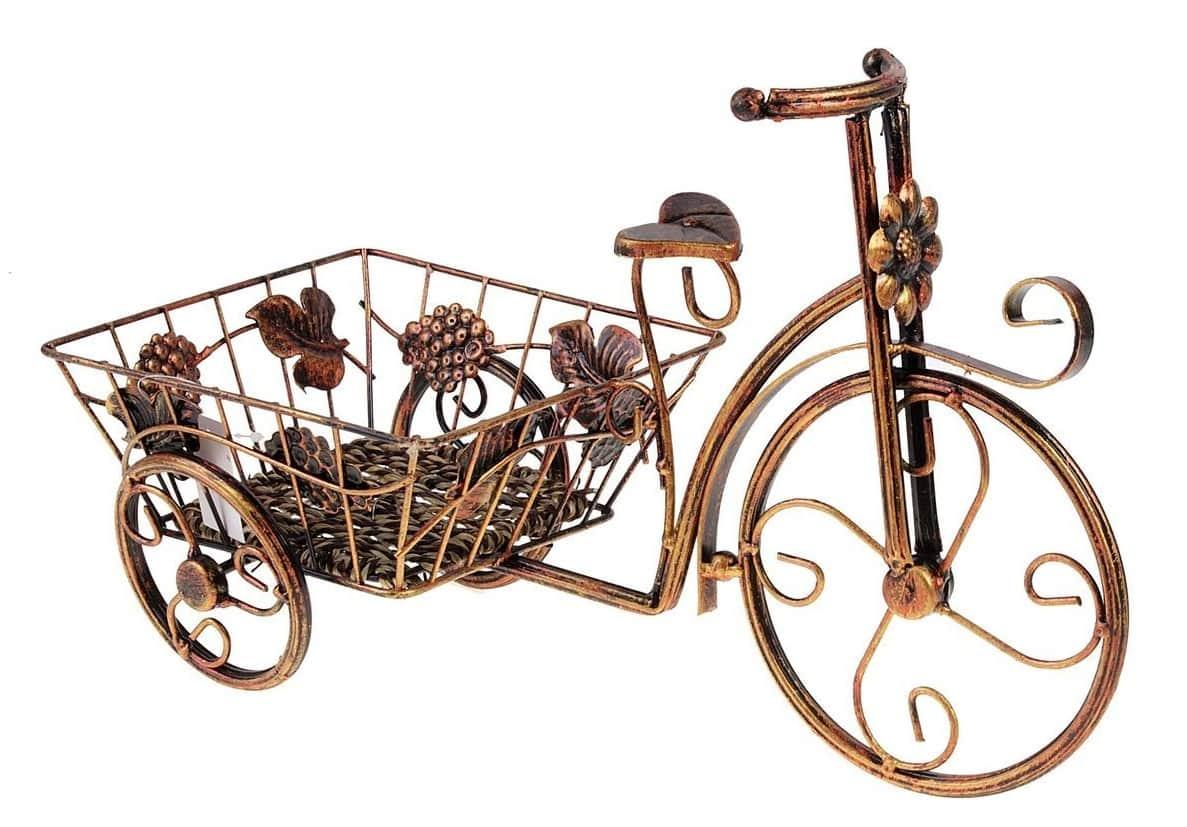 Кована підставка під квіти у вигляді триколісного велосипеда