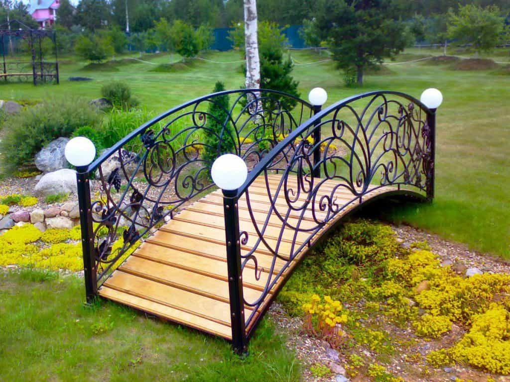 Кованые мосты для сада, дома, дачи